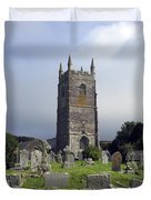 Lansallos Church Cornwall Duvet Cover