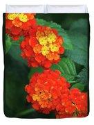 Lantana Bandana Red Flower Duvet Cover