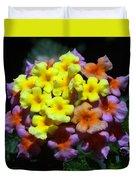 Lantana Flower Chips Duvet Cover