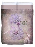 Lantana In Purple Duvet Cover