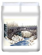Lanterman Falls Bridge - Mill Creek Park Duvet Cover