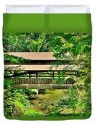 Lanterman's Mill Covered Bridge Duvet Cover
