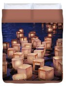 Lantern Floating Ceremony Duvet Cover
