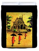 Procession To Temple, Lao Collection Duvet Cover