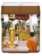 Laos, Vientiane Duvet Cover