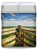 Lapham Peak Wisconsin - View From Wooden Observation Tower Duvet Cover