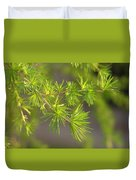 Larch Branch And Foliage Duvet Cover