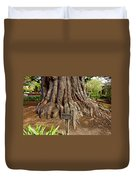 Large Cypress Tree Trunk In Carmel Mission-california  Duvet Cover
