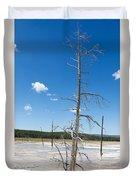 Large Dead Standing Tree In Hot Springs  Duvet Cover