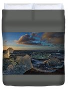 Large Icebergs At Dawn #4 - Iceland Duvet Cover