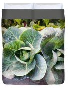 Large Leaves Of A Cabbage Plant Duvet Cover
