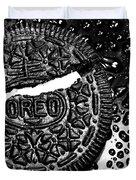 Large Oreo Black And White  Duvet Cover
