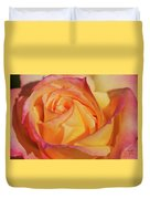 Large Peace Rose Center 006 Duvet Cover
