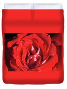 Large Red Rose Center - 003 Duvet Cover