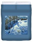 Large Snowball Zermatt Duvet Cover by Andrew Macara