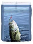 Largemouth Bass Duvet Cover