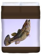 Largemouth Bass Side Profile Duvet Cover