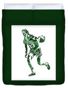 Larry Bird Boston Celtics Pixel Art 10 Duvet Cover