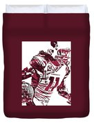 Larry Fitzgerald Arizona Cardinals Pixel Art 1 Duvet Cover