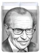 Larry King Duvet Cover