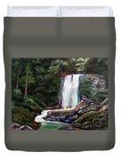 Las Marias Puerto Rico Waterfall Duvet Cover