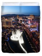 Las Vegas Lights Duvet Cover