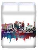 Las Vegas Skyline City Blue Duvet Cover