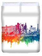 Las Vegas Skyline City Color Duvet Cover