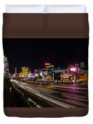 Las Vegas Strip At Night Duvet Cover