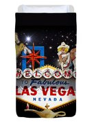 Las Vegas Symbolic Sign Duvet Cover