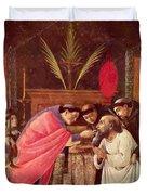 Last Communion Of St Jerome Duvet Cover