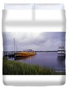 Last Ferry To Lookout Duvet Cover
