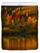 Last Light At Oxbow Bend  Duvet Cover
