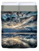 Last Light Isle Of Rum From Isle Of Eigg Duvet Cover