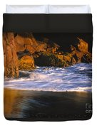 Last Light On Harris Beach Duvet Cover