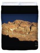 Last Light On Mt Aconcagua Duvet Cover