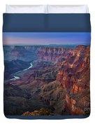 Last Light On The Canyon Duvet Cover