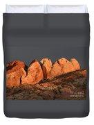 Last Light Valley Of Fire Duvet Cover