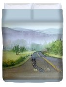 Last Of The Day Temescal Canyon Duvet Cover