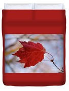 Last Of The Leaves Nature Photograph Duvet Cover