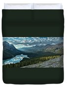 Last Rays Of Light Over Peyto Lake Duvet Cover
