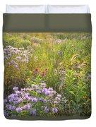 Last Rays Of Sun Light Wildflowers In Moraine Hills Sp Duvet Cover