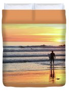 Last Wave Of The Day Duvet Cover