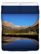 Late Afternoon At Mcclure Meadow Duvet Cover