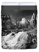 Late Afternoon At The Court Of The Patriarchs - Bw Duvet Cover