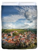 Late Afternoon Light On Staithes Duvet Cover