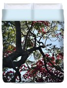 Late Afternoon Tree Silhouette With Bougainvilleas I Duvet Cover