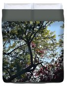 Late Afternoon Tree Silhouette With Bougainvileas II Duvet Cover