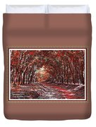 Late Autumn Avenue H A With Decorative Ornate Printed Frame. Duvet Cover