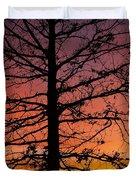 Late Autumn Sunset Duvet Cover